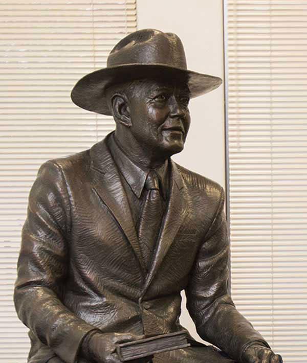 Statue of Dr. Stewart Morris